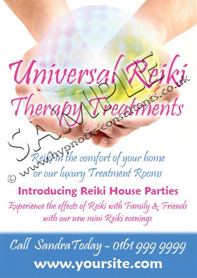 Reiki Promotional Leaflet Front